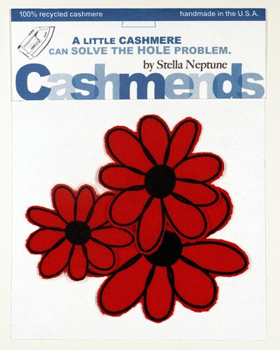 Image of Iron-on Cashmere Flower - Tomato Red