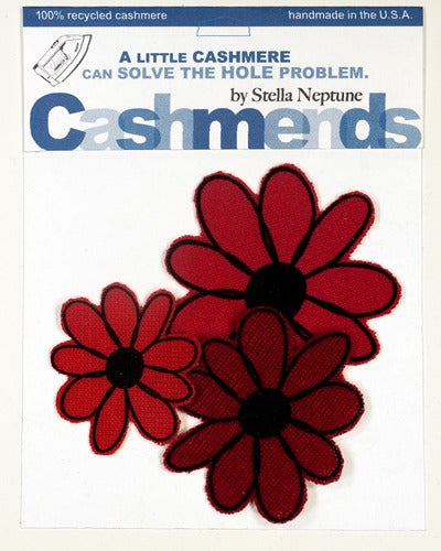 Image of Iron-on Cashmere Flower - Triple Red