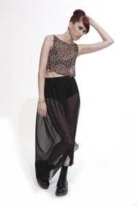 Image of Maxi mesh Skirt