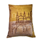 Image of Venezia Yellow Cushion