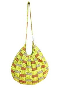 Image of Basket Weave Hobo Bag