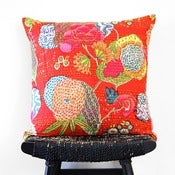 Image of KANTHA Cotton Cushion Cover 50 x 50 cm, 20 inch