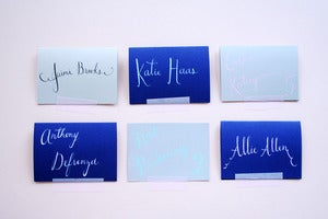 Image of Custom calligraphy place cards