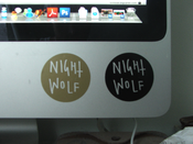 Image of Nightwolf Circular Sticker 2""