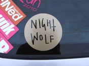 Image of Nightwolf Circular Sticker 4""