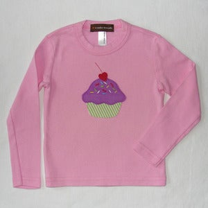 Image of CUPCAKE APPLIQUE T-SHIRT