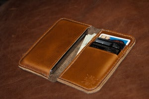Image of Chromexcel Leather iPhone Wallet