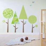 Image of Lollypop Popsicle Tree Removable and Reusable Wall Decal Kids Nursery Christmas