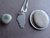 Image of Tiny Illinois State Necklace