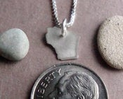 Image of Tiny Wisconsin State Necklace