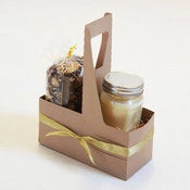 "Image of Kraft Gift Carrier 8"" x 3 5/8"" x 10 1/4"""