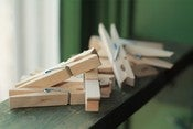 Image of Natural Wooden Clothespins