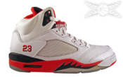 Image of Air Jordan 5 Fire Red Retro