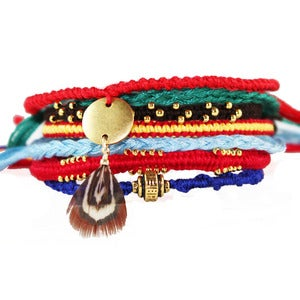 NauticalWheeler — Lost Little Indian Friendship Bracelets :  charm bracelets native american jewelry indian jewelry woven bracelets