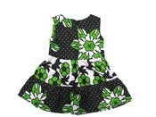 Image of Kenya Green Girls Ruffle Dress
