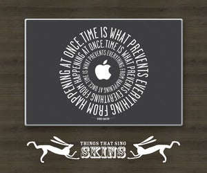 Image of Apple Laptop Skins - Einstein Time (black, grey, turquoise)