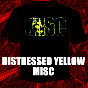 Image of THE MISC BERTSHIRT (DISTRESSED YELLOW LOGO)