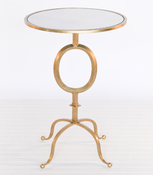 "Image of ""O"" Occasional Gold Leaf Table"