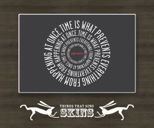 Image of Laptop Skins - Einstein Time (black, grey, turquoise, red)