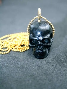 Image of Black Skull Necklace
