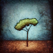 "Image of ""Horizon Tree Peace 2 Blue"" <br> Sizes: 4x4"", 6x6"", 8x8"", 12x12"""