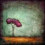 "Image of ""Horizon Tree Peace 1 Green"" <br> Sizes: 4x4"", 6x6"" & 8x8"""