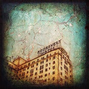 "Image of Hollywood Series, Roosevelt Hotel"" <br> Sizes: 4x4"", 6x6"" & 8x8"""