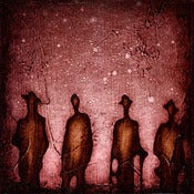 "Image of ""Solo Human Shadows 1 Red"" <br> Sizes: 4x4"", 6x6"" & 8x8"""