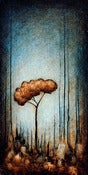 "Image of ""Drip Tree Peace 1"" <br> Size: 12x6"" <br> 2nd photo shows size"