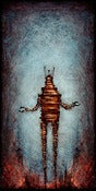 "Image of ""Drip RobotC 1"" <br> Size: 12x6"" <br> 2nd photo shows size"
