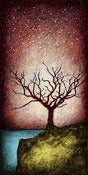 "Image of ""Horizon Tree Dormant 2 Red"" <br> Size: 12x6"" <br> 2nd photo shows size"
