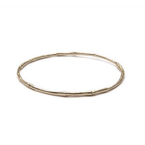 Image of 14k gold branch bangle (B0314k)