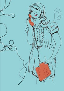 Image of 'KATHERINE ON THE PHONE' NOTEBOOK