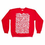 Image of ISOMETRIC RED SWEATSHIRT - LTD EDITION