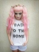 Image of 'Bad to the Bone' Distressed Tee