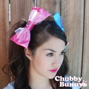 Image of Vinyl Pink Heart Bow