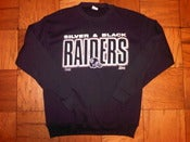 Image of VINTAGE L.A. RAIDERS BLACK & SILVER SWEATSHIRT
