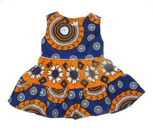 Image of Kenya Sunflower Spot Girls Ruffle Dress