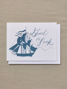 Image of Good Luck Ship Note Card