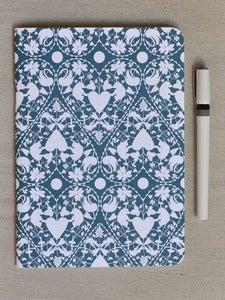 Image of Large Blue Doily Notebook