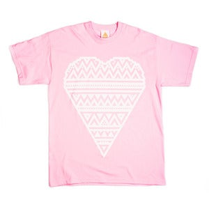 Image of HEART PRINT PINK T-SHIRT - LTD EDITION