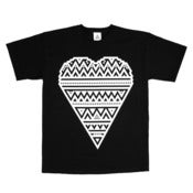 Image of HEART PRINT NOIR T-SHIRT