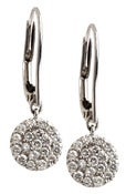 Image of   Kara Ackerman <i> Audrey <i/> 14k White Gold Diamond Disc Earring