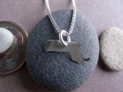 Image of Tiny Massachusetts State Necklace 