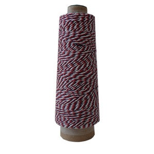 Image of red,white&amp;blue bakers twine cone