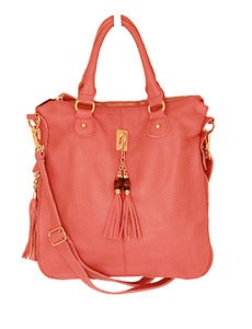 Image of Pink Leather Tassel Satchel (LAST ONE!)