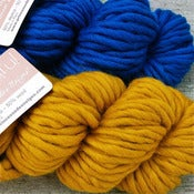 Image of Alpaga &amp; laine &quot;Beautiful&quot;, blue mediterranean / happy mustard