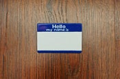 Image of &quot;Hello my name is&quot; Pin