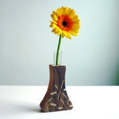 Image of Power Plants Bud Vase: &quot;Fuel Cell&quot; Walnut