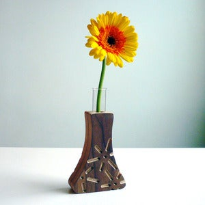 "Image of Power Plants Bud Vase: ""Fuel Cell"" Walnut"